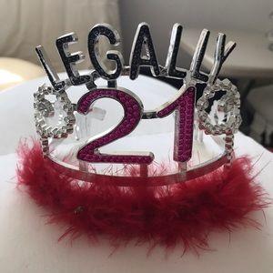 legally 21 birthday crown